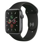 Apple Watch 5: Spacegrijs met zwart sportbandje