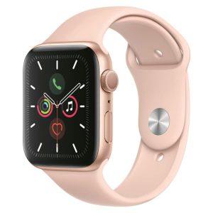 Apple Watch 5 | Goud | Roze sportbandje