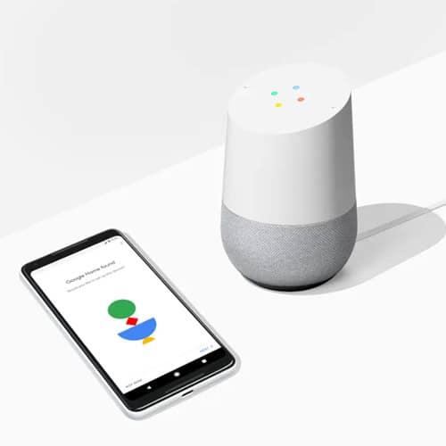 Google Home met telefoon