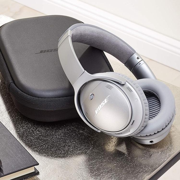 Bose QuietComfort 35 II (zilver) met case