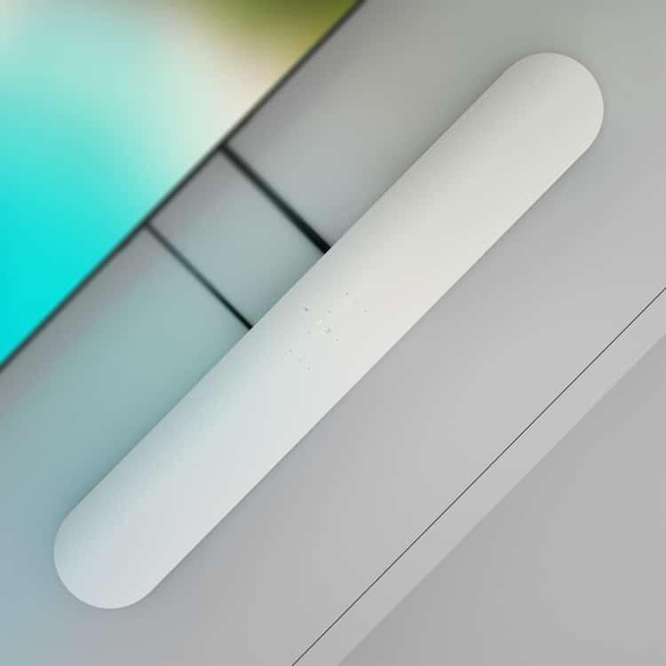 Sonos Beam (wit) soundbar bovenkant met TV