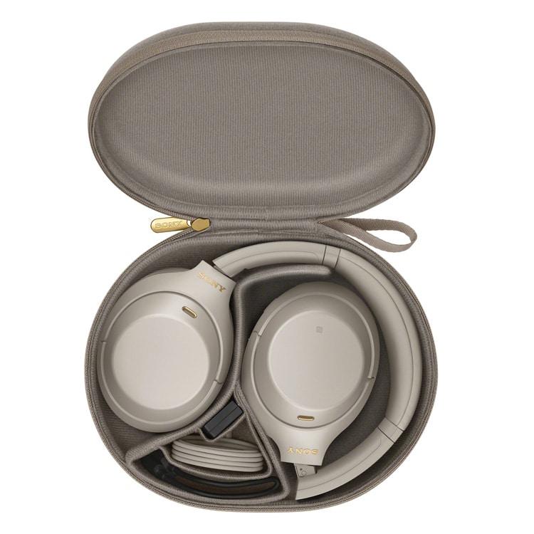 Sony WH-1000XM4 (zilver) in opbergcase
