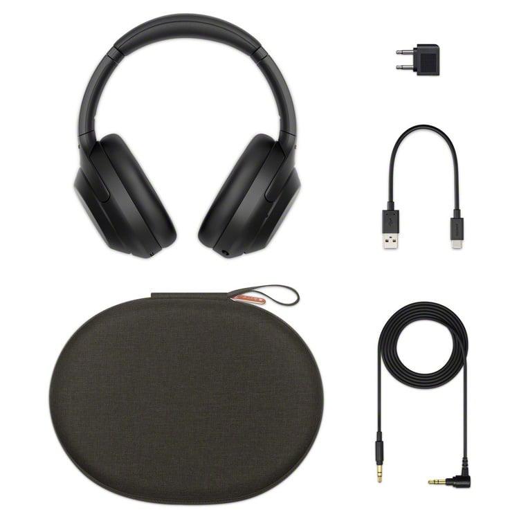 Inhoud pakket Sony WH-1000XM4 koptelefoon (zwart)