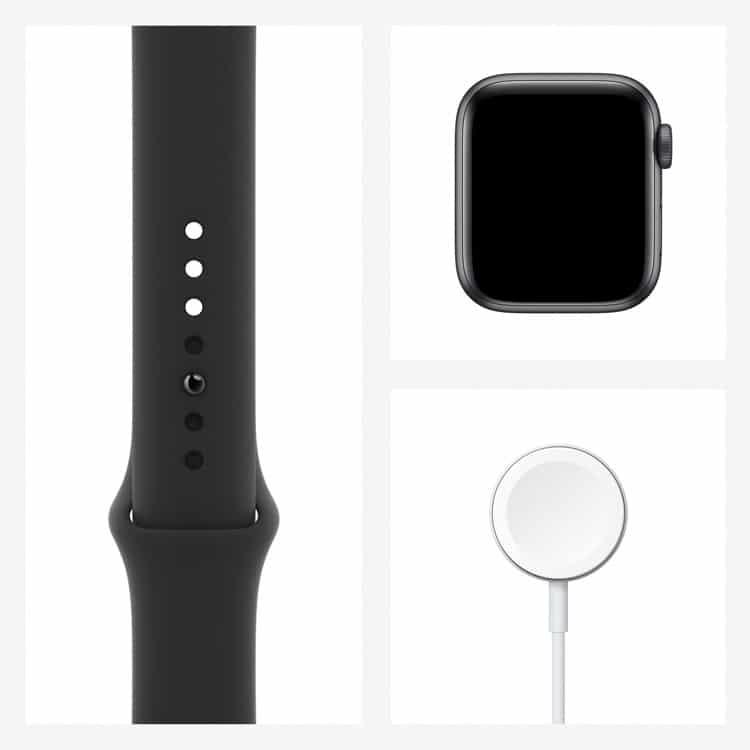 Inhoud pakket Apple Watch SE | Kleur: Spacegrijs