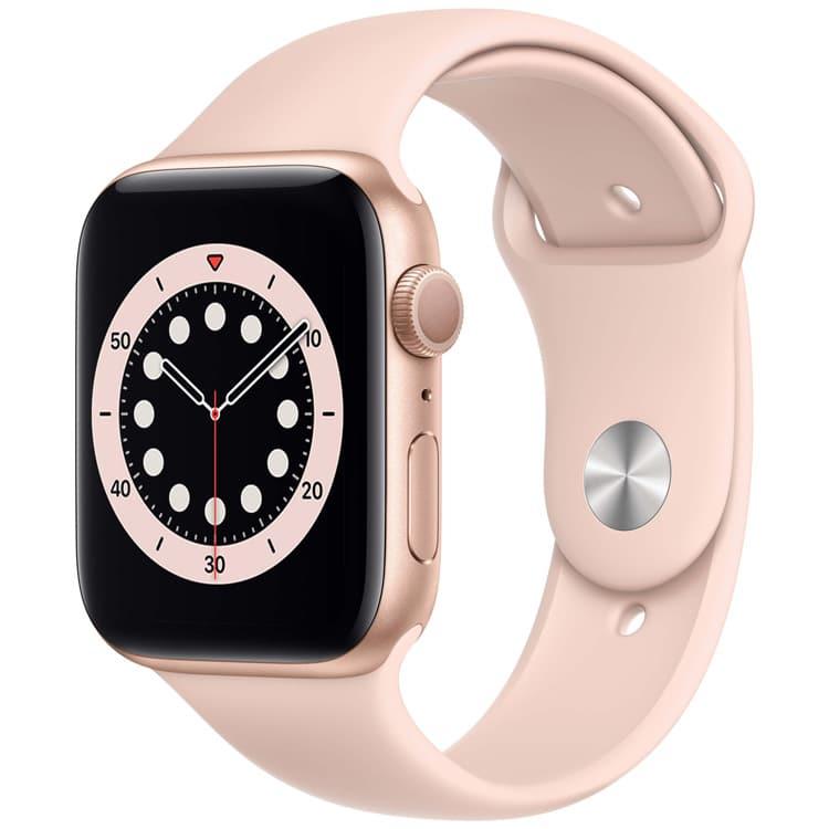 Apple Watch 6 Goud met Roze sportbandje