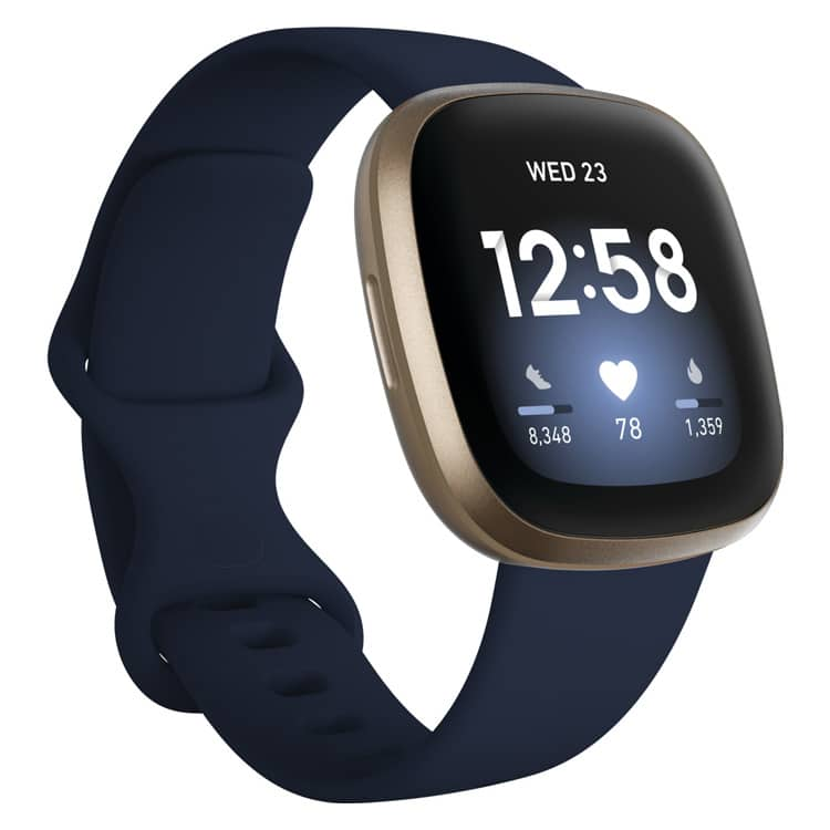 Fitbit Versa 3 | smartwatch & activity tracker | blauw / goud