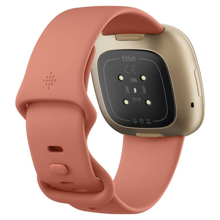 Fitbit Versa 3 smartwatch roze (achterkant)