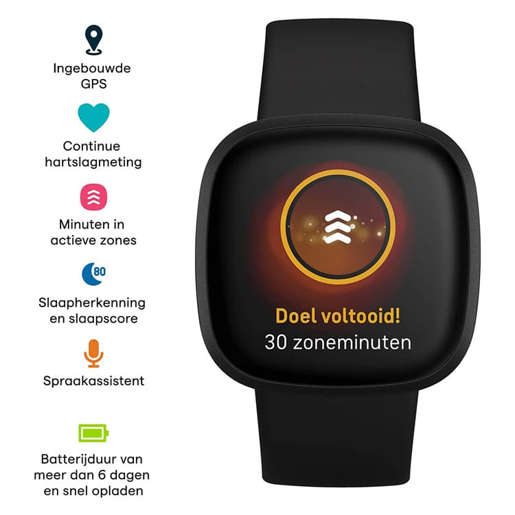 Fitbit Versa 3 smartwatch (zwart) functies
