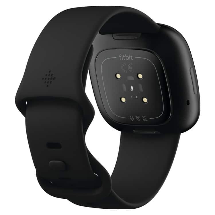 Fitbit Versa 3 zwart (achterkant)