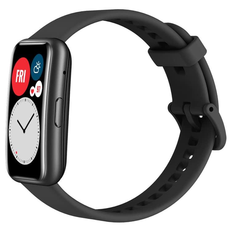 Zijkant Huawei Watch Fit (zwart)