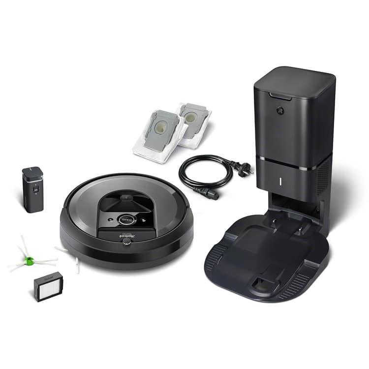 Inhoud pakket iRobot Roomba i7+