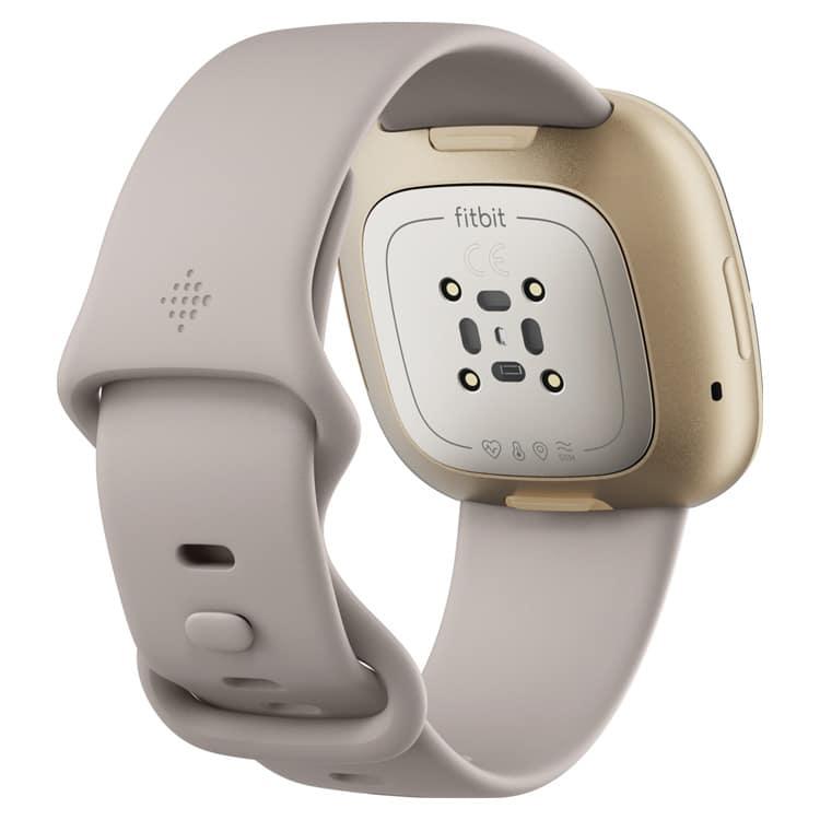 Fitbit Sense (Wit) achterkant