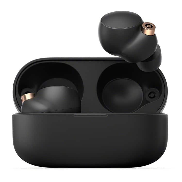 Sony WF-1000XM4 draadloze oordopjes in oplaadcase (zwart)